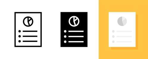 dados com o símbolo do gráfico de pizza, conjunto de ícones de informações de negócios vetor