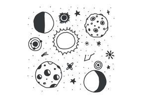 Eclipse preto e branco vetor