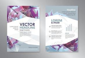 modelo de revista de design abstrato de polígono vetor