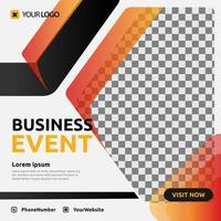 design de modelo de mídia social pós-evento de negócios digital