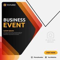 design de modelo de mídia social pós-evento de negócios digital para promoção vetor