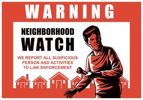 Relógio de vizinhança vetor