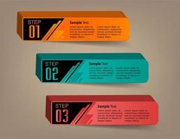 modelo de caixa de texto 3D moderno, infográficos de banner vetor