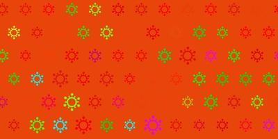 textura vector multicolor escuro com símbolos de doença.
