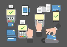 Vector de leitores de cartões de crédito / débito