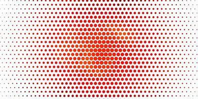 textura de vetor laranja clara com círculos.