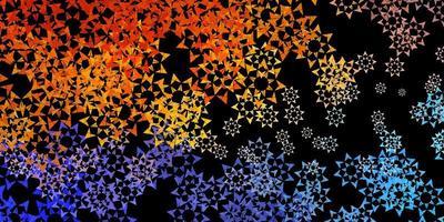 fundo vector azul escuro com estilo poligonal.