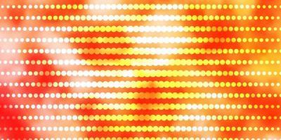 layout de vetor laranja claro com círculos.