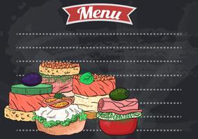 Buffet de Canapes de Carne vetor