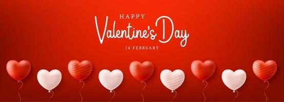 fundo de venda de dia dos namorados com padrão de coração de balões vetor
