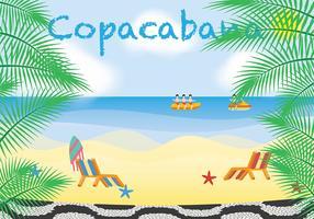 vetor de textura de copacabana