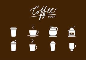ícone de café siluetas vetor livre