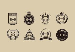 logotipo do dumbbell vetor livre