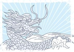 Festival do barco do dragão vetor