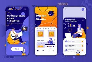 design studio kit de design exclusivo para histórias em redes sociais. vetor