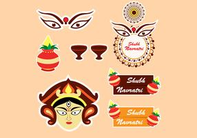 Ícone do festival Shubh Navratri vetor