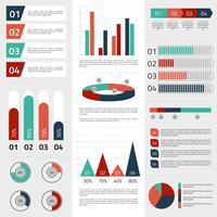 Elementos de informação de negócios vetor