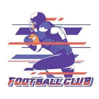 Jogador de futebol da faculdade vetor