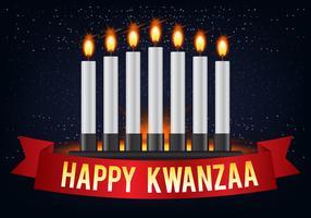 Projeto feliz de cumprimentos de Kwanzaa vetor