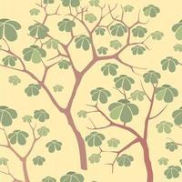 floresta sem costura fundo. padrão de árvore de jardim vetor