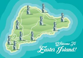 Mapa da Ilha de Pásco vetor