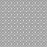 ornamento de linha abstrata em estilo oriental muçulmano. padrão sem emenda geométrico tradicional asiático vetor