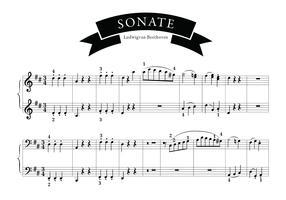 Sonate song of beethoven vetor