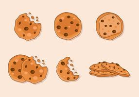 Chocolate Chip De Desenhos Animados vetor