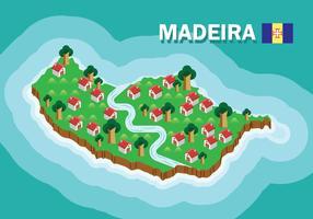 Mapa da Madeira vetor