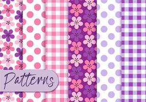Conjunto de padrões retros roxos