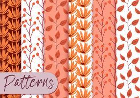 conjunto de padrões de laranja pastel