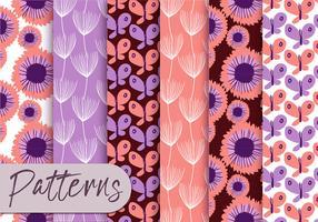 Conjunto de padrões roxos Pastel