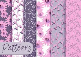 conjunto de padrões rosa suave
