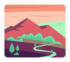 design de paisagem plana vetor