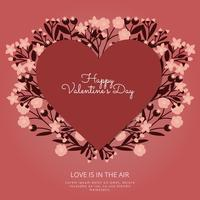 Vector Floral Valentine's Day Composition