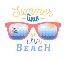 Cartão de verão vetor