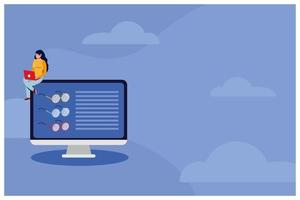 compras de comércio eletrônico on-line com mulheres usando laptop e desktop