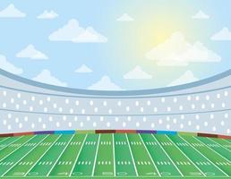ícone da cena do campo de futebol americano