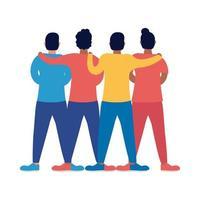 personagens de avatares de amigos interraciais