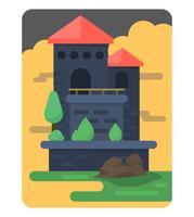 design plano do castelo vetor