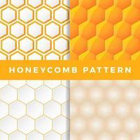 conjunto de padrão de favo de mel