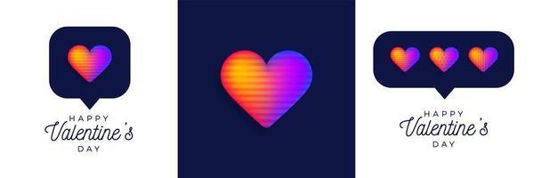 conjunto arco-íris do dia dos namorados com coração