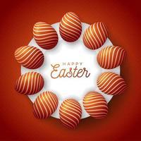 banner circular de ovo de páscoa vetor