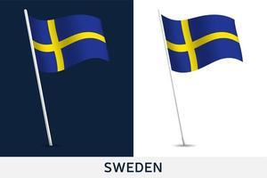 bandeira de vetor suécia