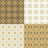 conjunto de padrões abstratos de luxo e moda vetor