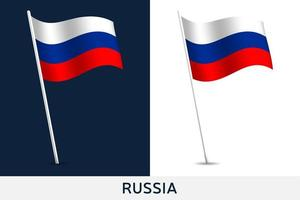 bandeira do vetor da rússia