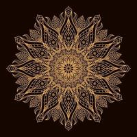 Mandala circular de luxo dourado. ornamento decorativo em estilo oriental étnico. página do livro para colorir.