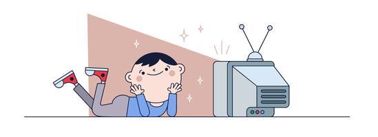 vetor de mostra de tv