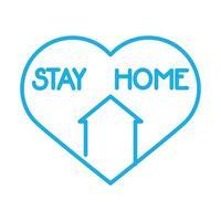 fachada de casa com coração fique em casa