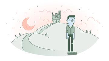 Vetor do castelo de Frankenstein